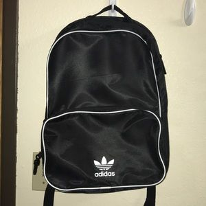 adidas classic black and white backpack